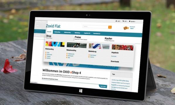 "Responsive OXID Template ""zoxid-flat"" bringt Cross-Version Kompatibilität YOXID Flat aus der zoks.net Reihe"