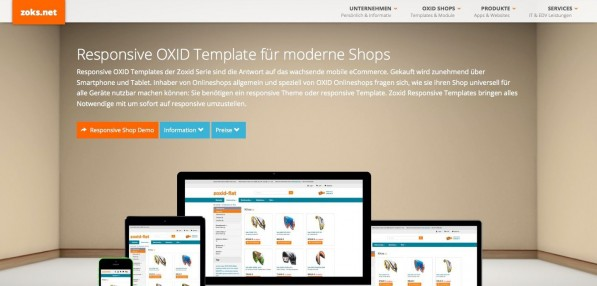 Relaunch zoks.net zoks.net Responsive OXID Shop Themes Website