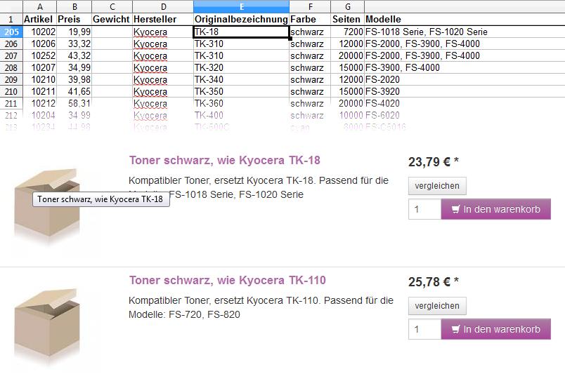 Zoxid OXID Daten Import Modul Beispiel